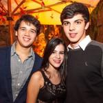 Caio César Haffner, Ana Beatriz Malafaia e João Victor Torres