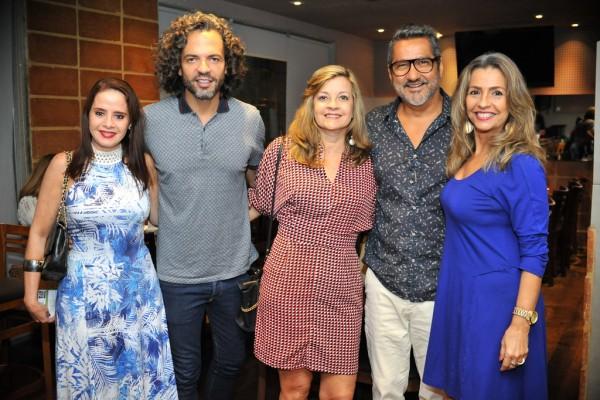 Luciane Avelar, Marcelo, Rosangela Barros, eu e Jurema Coelho