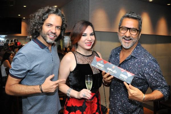 Marcelo, Silvia Faillace e eu